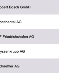 Largest Automotive Suppliers Germany Database