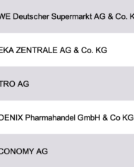 Largest Retail Companies Germany Database