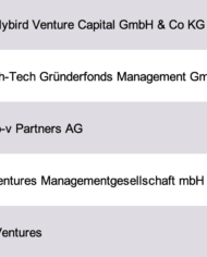 Venture Capital Investors Germany Database