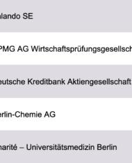 Largest Companies Berlin Database