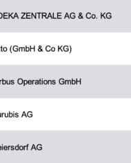 Largest Companies Hamburg Database