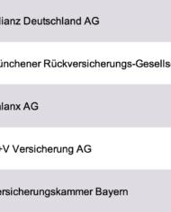 Largest Insurances Germany Database