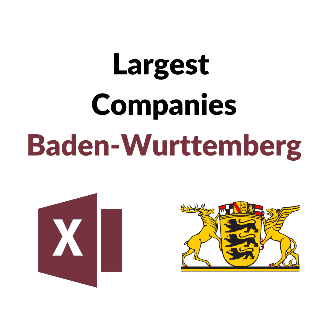 Research Germany - List of the Largest Companies in Baden-Württemberg