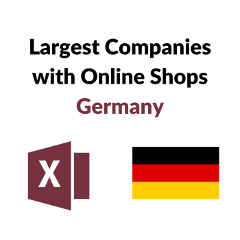 Research Germany - List of the Largest Companies with online shops stores german